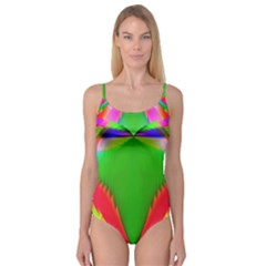 Colorful Abstract Butterfly With Flower  Camisole Leotard