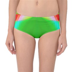 Colorful Abstract Butterfly With Flower  Mid Waist Bikini Bottoms