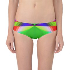 Colorful Abstract Butterfly With Flower  Classic Bikini Bottoms