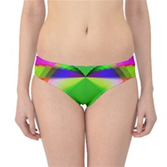 Colorful Abstract Butterfly With Flower  Hipster Bikini Bottoms