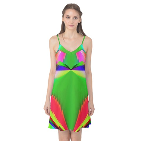Colorful Abstract Butterfly With Flower  Camis Nightgown