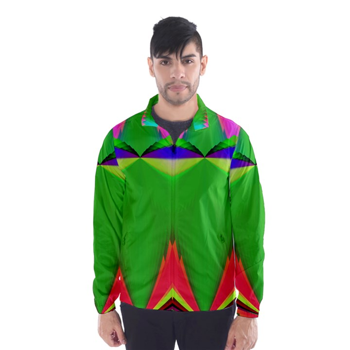 Colorful Abstract Butterfly With Flower  Wind Breaker (Men)