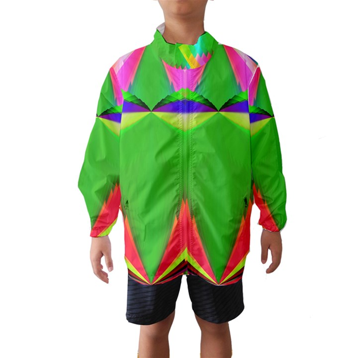 Colorful Abstract Butterfly With Flower  Wind Breaker (Kids)