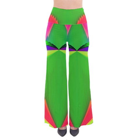 Colorful Abstract Butterfly With Flower  Pants