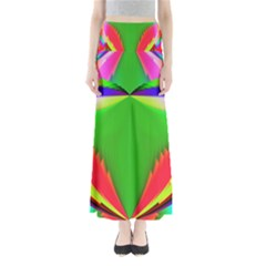 Colorful Abstract Butterfly With Flower  Maxi Skirts