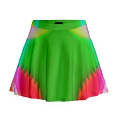 Colorful Abstract Butterfly With Flower  Mini Flare Skirt