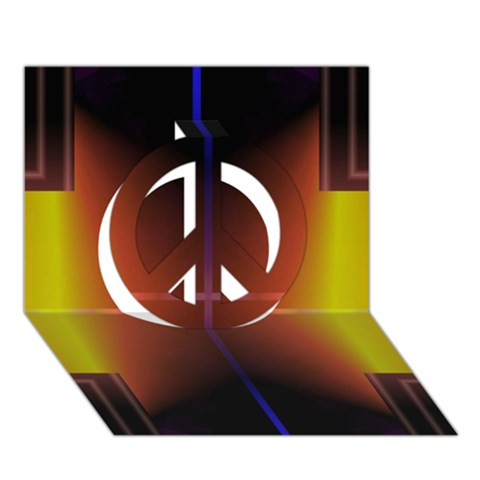 Abstract Painting Peace Sign 3D Greeting Card (7x5)