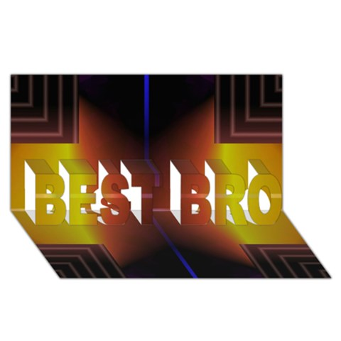 Abstract Painting BEST BRO 3D Greeting Card (8x4)