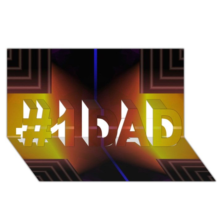 Abstract Painting #1 DAD 3D Greeting Card (8x4)
