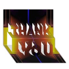 Abstract Painting THANK YOU 3D Greeting Card (7x5)