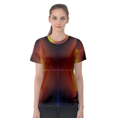 Abstract Painting Women s Sport Mesh Tee