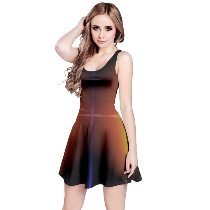 Abstract Painting Reversible Sleeveless Dress