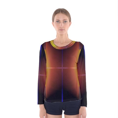 Abstract Painting Women s Long Sleeve Tee