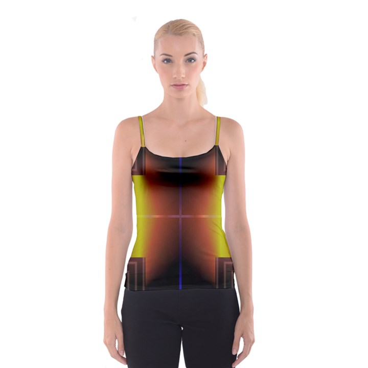 Abstract Painting Spaghetti Strap Top