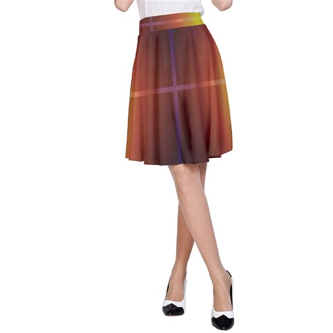 Abstract Painting A-Line Skirt