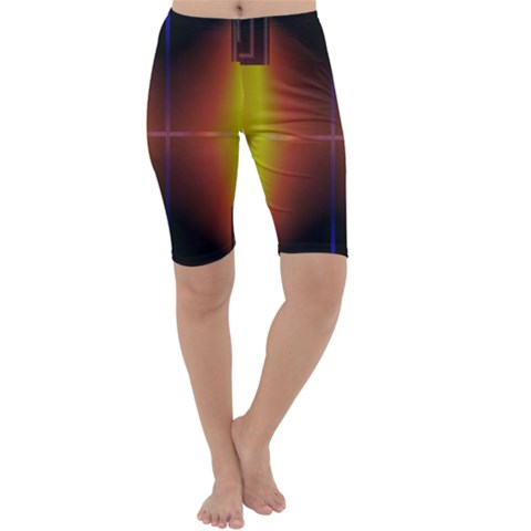 Abstract Painting Cropped Leggings