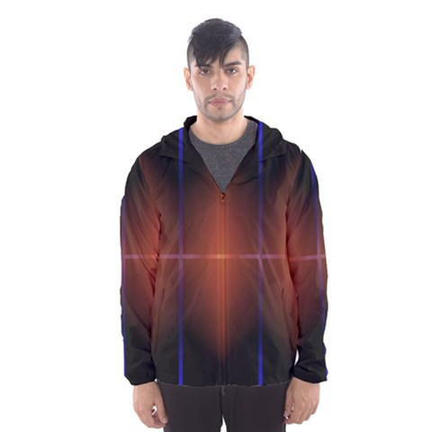 Abstract Painting Hooded Wind Breaker (Men)