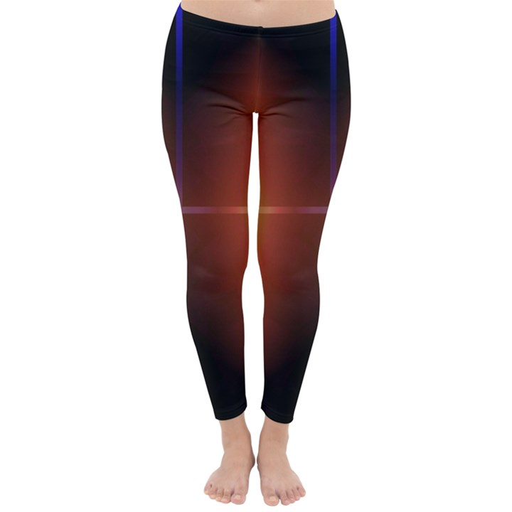 Abstract Painting Winter Leggings