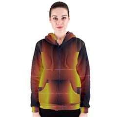 Abstract Painting Women s Zipper Hoodie