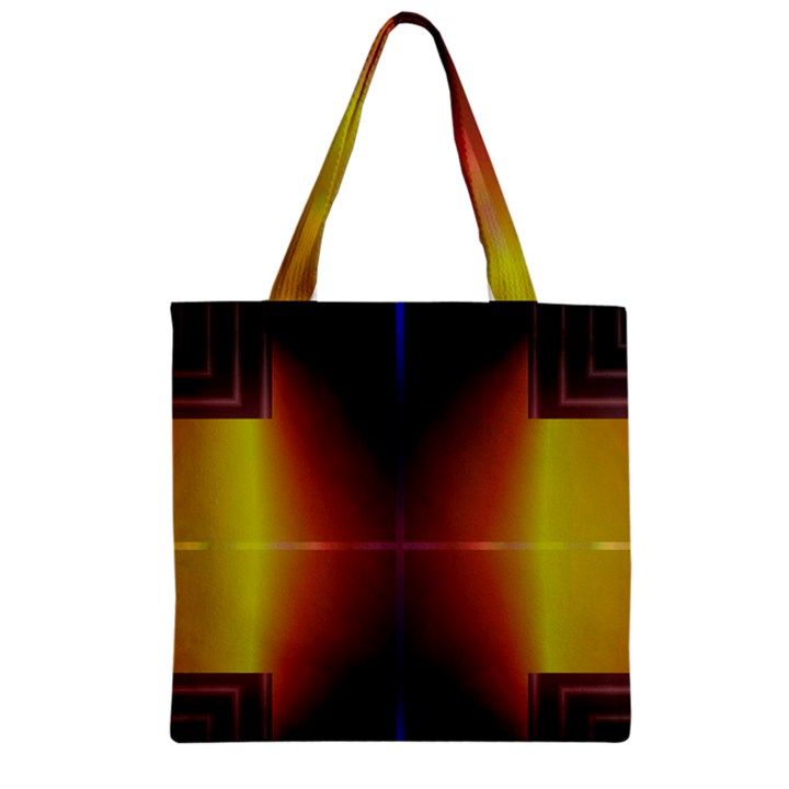 Abstract Painting Zipper Grocery Tote Bag