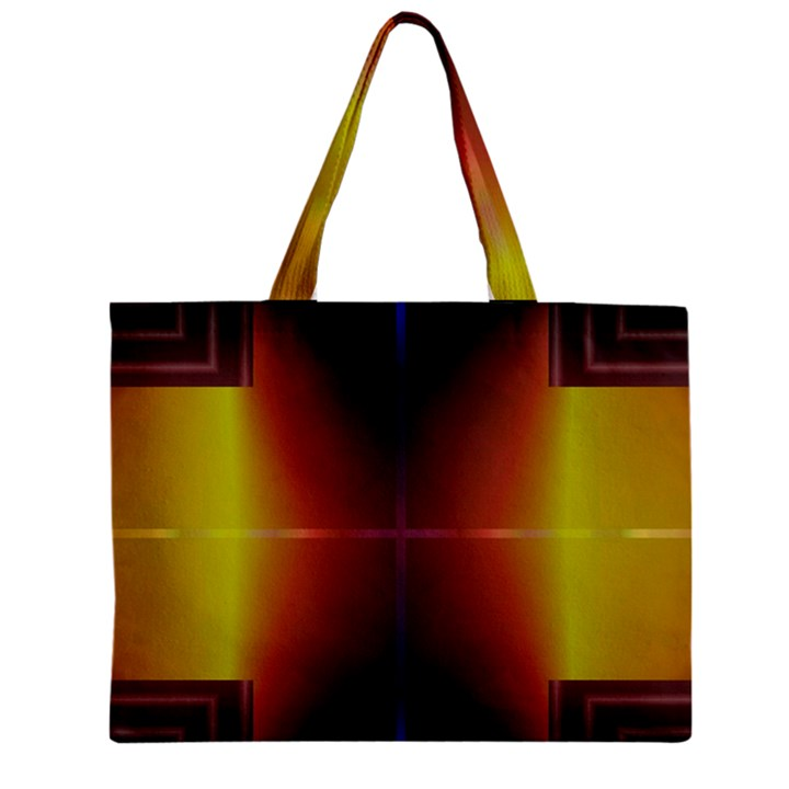 Abstract Painting Zipper Mini Tote Bag