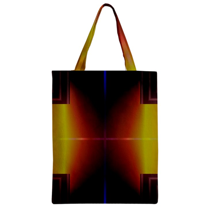 Abstract Painting Zipper Classic Tote Bag