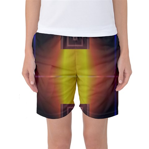 Abstract Painting Women s Basketball Shorts