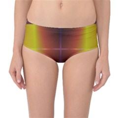 Abstract Painting Mid-Waist Bikini Bottoms