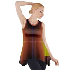 Abstract Painting Side Drop Tank Tunic