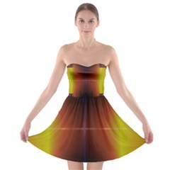 Abstract Painting Strapless Bra Top Dress