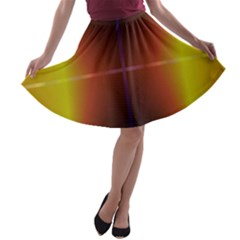 Abstract Painting A-line Skater Skirt