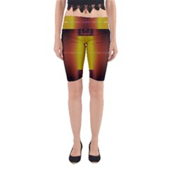 Abstract Painting Yoga Cropped Leggings