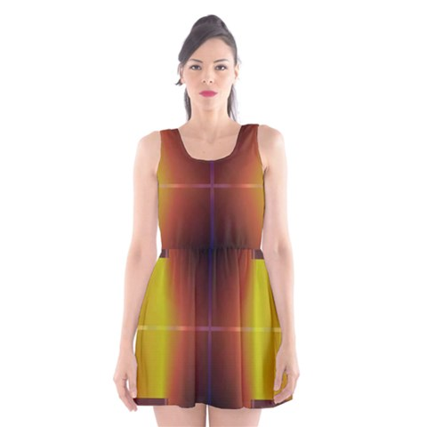 Abstract Painting Scoop Neck Skater Dress