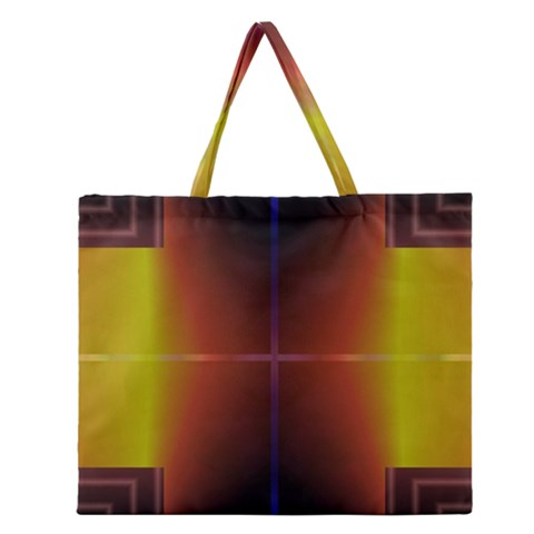 Abstract Painting Zipper Large Tote Bag