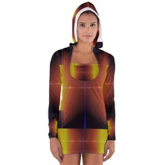 Abstract Painting Women s Long Sleeve Hooded T-shirt
