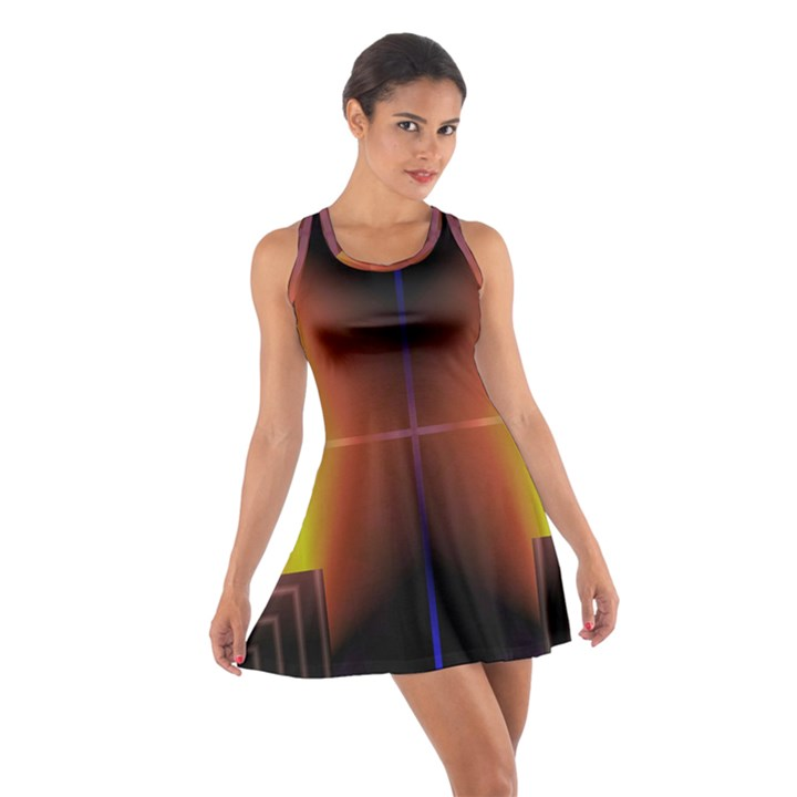 Abstract Painting Cotton Racerback Dress