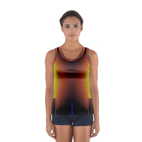 Abstract Painting Women s Sport Tank Top