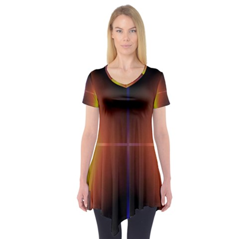 Abstract Painting Short Sleeve Tunic