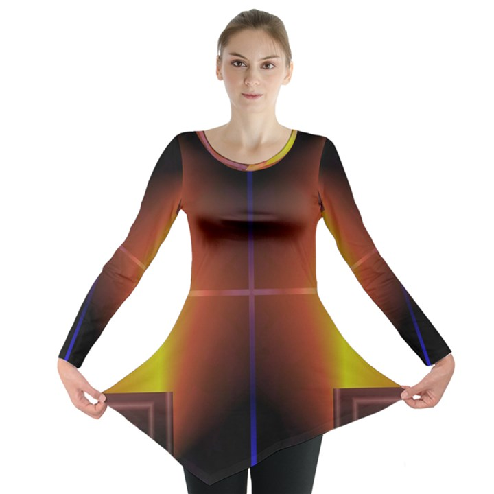 Abstract Painting Long Sleeve Tunic
