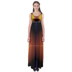 Abstract Painting Empire Waist Maxi Dress