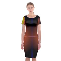 Abstract Painting Classic Short Sleeve Midi Dress