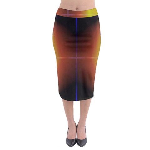 Abstract Painting Midi Pencil Skirt