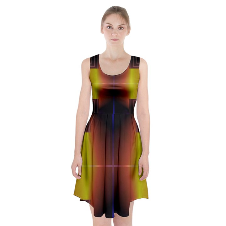 Abstract Painting Racerback Midi Dress