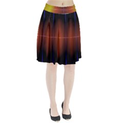 Abstract Painting Pleated Skirt