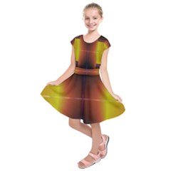 Abstract Painting Kids  Short Sleeve Dress
