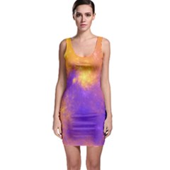 Colorful Universe Sleeveless Bodycon Dress