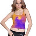 Colorful Universe Spaghetti Strap Bra Top View1