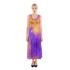 Colorful Universe Sleeveless Maxi Dress