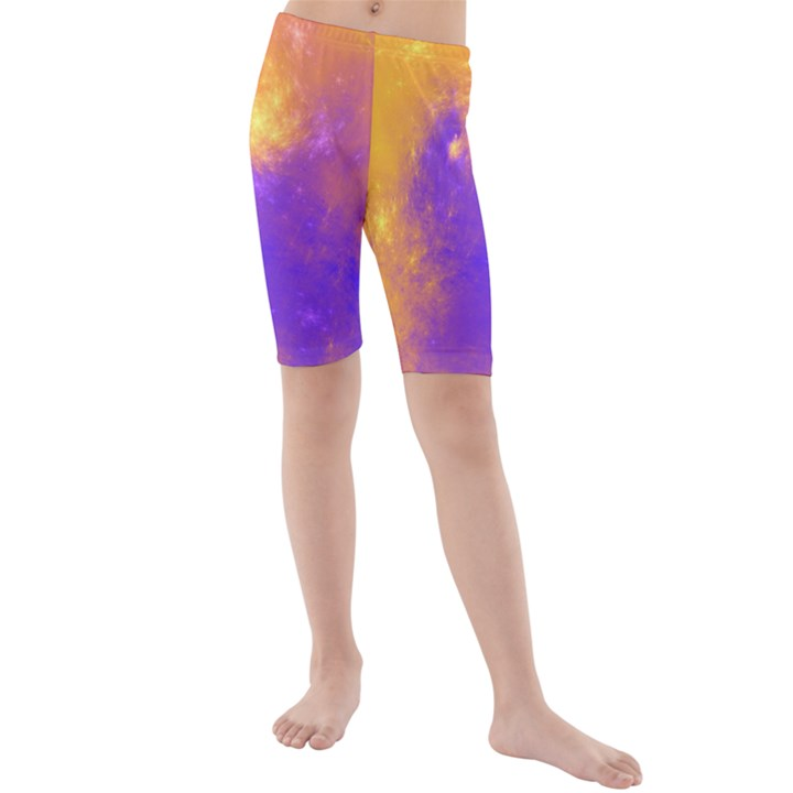 Colorful Universe Kids  Mid Length Swim Shorts