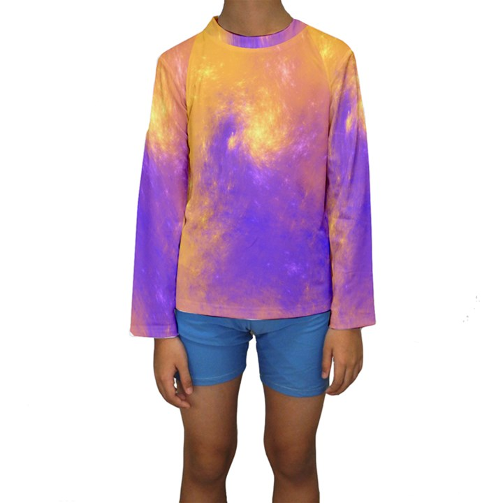 Colorful Universe Kids  Long Sleeve Swimwear